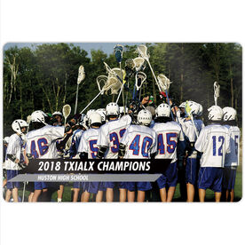 "Guys Lacrosse 18"" X 12"" Aluminum Room Sign - Classic Horizontal Photo"