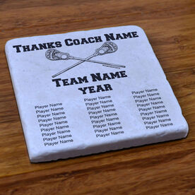Lacrosse Stone Coaster Thanks Coach With Team Roster