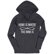 Hockey Lightweight Performance Hoodie - Home Is Where The Rink Is