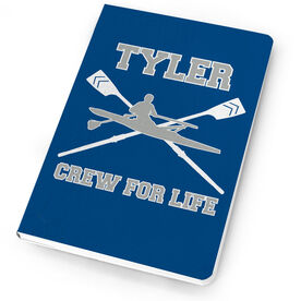Crew Notebook Personalized Crossed Oars And Guy Rower