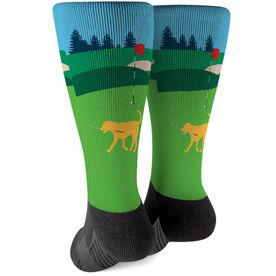 Golf Printed Mid-Calf Socks - Ace The Golf Dog
