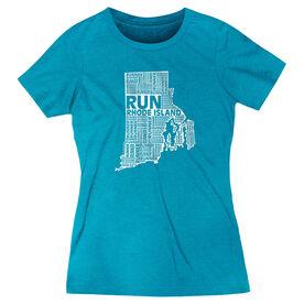 Women's Everyday Runners Tee Rhode Island State Runner