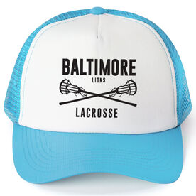 Girls Lacrosse Trucker Hat - Team Name With Text
