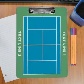 Tennis Custom Clipboard Tennis Court