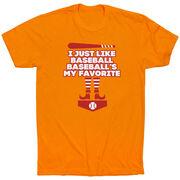 Baseball Short Sleeve T-Shirt - Baseball's My Favorite