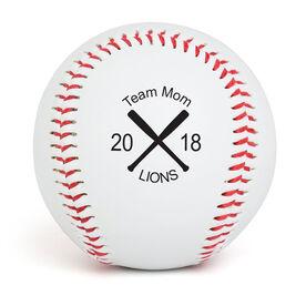 Custom Baseball Crossed Bats Team Mom