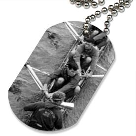Custom Crew Photo Printed Dog Tag Necklace