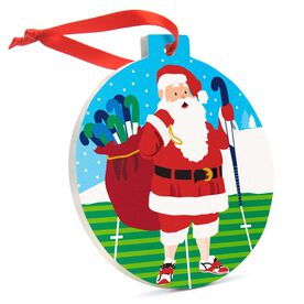 Field Hockey Round Ceramic Ornament - Field Hockey Santa