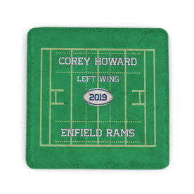 Rugby Stone Coaster - Personalized Team