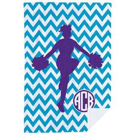 Cheerleading Premium Blanket - Chevron Monogram