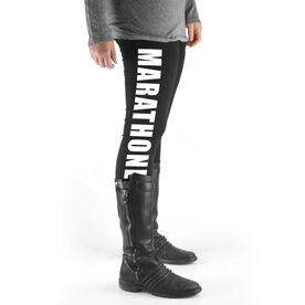 Running High Print Leggings - Marathoner
