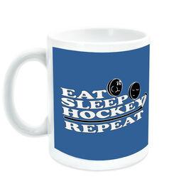 Hockey Coffee Mug Eat Sleep Hockey Repeat