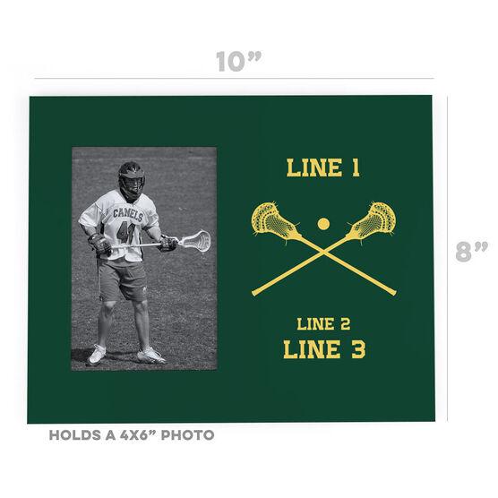 Guys Lacrosse Photo Frame - Custom Lacrosse Sticks