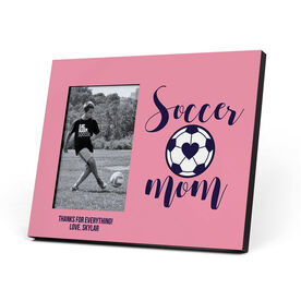 Soccer Photo Frame - Soccer Mom With Ball