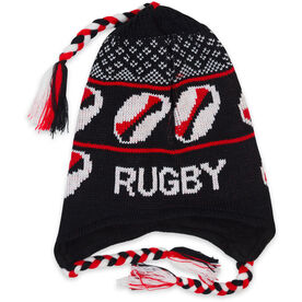 Fleece Lined Knit Rugby Hat