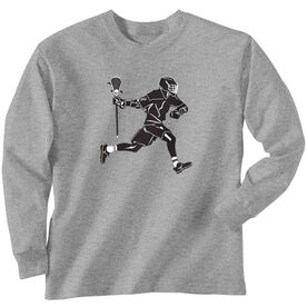 Guys Lacrosse Long Sleeve T-Shirt - Lax Player