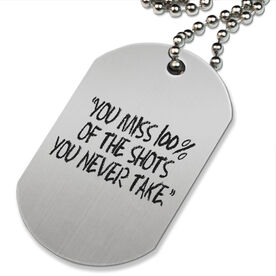 You Miss 100% Printed Dog Tag Necklace