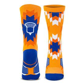 Guys Lacrosse Woven Mid-Calf Socks - Aztec