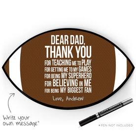 Football Plaque - Dear Dad