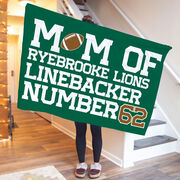 Football Premium Blanket - Personalized Football Mom