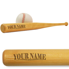 Baseball Mini Engraved Bat Your Name with Year