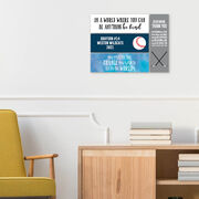 """Baseball 12.5"""" X 4"""" Removable Wall Tile - Personalized Team"""
