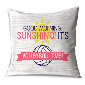 Volleyball Throw Pillow Good Morning Sunshine It's Volleyball Time