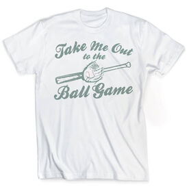 Vintage Baseball T-Shirt - Take Me Out To The Ball Game