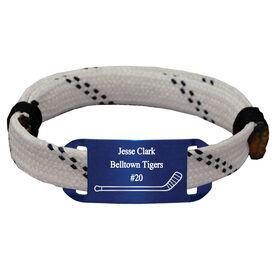 Personalized Hockey Lace Bracelet Single Stick Adjustable Wrister Bracelet