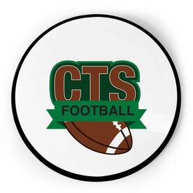 Football Circle Plaque - Custom Logo