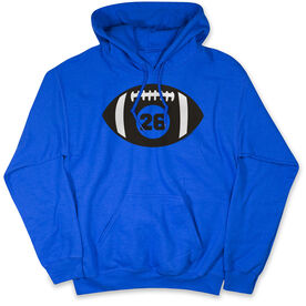 Football Hooded Sweatshirt - Personalized Football with Number