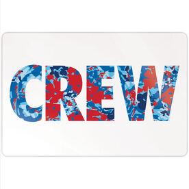"""Crew 18"""" X 12"""" Aluminum Room Sign - Floral Crew"""