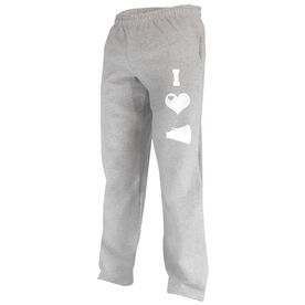 I Love Cheerleading (Symbols) Fleece Sweatpants