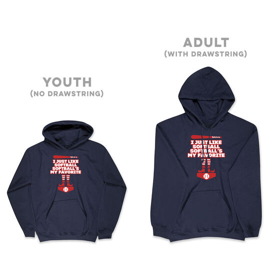 Softball Hooded Sweatshirt - Softball's My Favorite