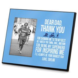 Triathlon Wood Frame Dear Dad