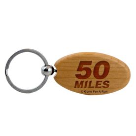 50 Miles Maple Key Chain