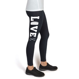 Girls Hockey High Print Leggings Love
