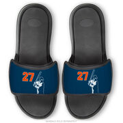 Baseball Repwell® Sandal Straps - Batter with Number
