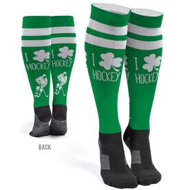 Hockey Printed Knee-High Socks - I Shamrock Hockey