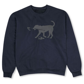 Skiing Crew Neck Sweatshirt - Sven The Ski Dog