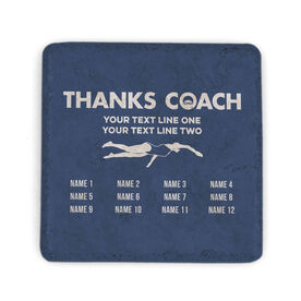 Swimming Stone Coaster - Thanks Coach Roster (Female)