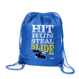 Softball Sport Pack Cinch Sack - Hit Run Steal Slide