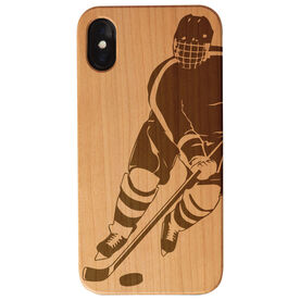 Hockey Engraved Wood IPhone® Case - Hockey Player