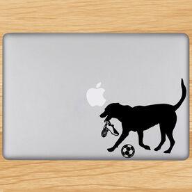Soccer Dog Removable ChalkTalkGraphix Laptop Decal