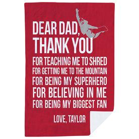 Snowboarding Premium Blanket - Dear Dad