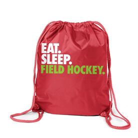 Field Hockey Sport Pack Cinch Sack Eat. Sleep. Field Hockey.