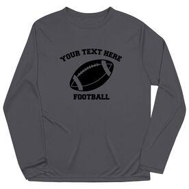Football Long Sleeve Performance Tee - Custom Football