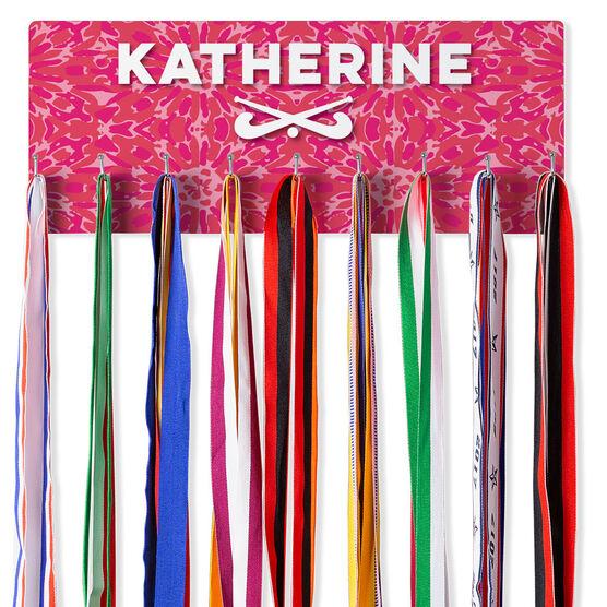 Field Hockey Hook Board Floral Tie Dye with Field Hockey Sticks