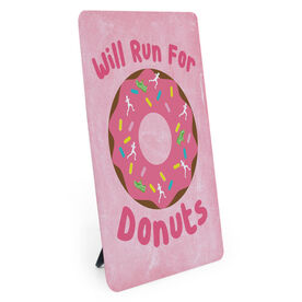 Running Desk Art - Will Run For Donuts