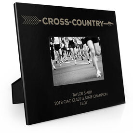Cross Country Engraved Picture Frame - Arrow Cross Country